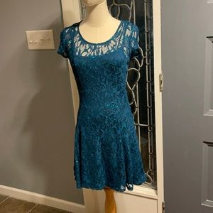 Gorgeous Turquoise dress with sequins